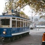 Bringt Wärme in das herbstliche Zürich: das Schoggi Tram