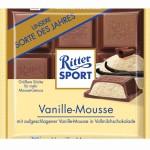 Die Ritter Sport Sorte des Jahres 2014 Vanille-Mousse ist nun im Handel erhältlich