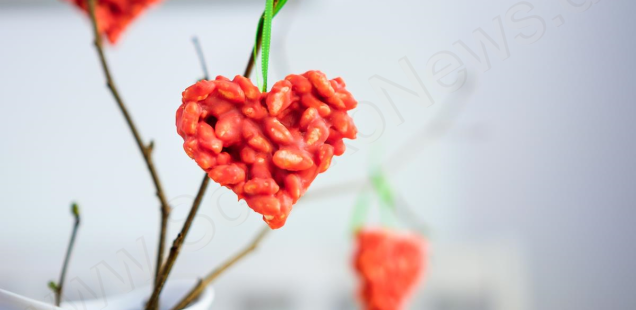 Herziger Schoko-Puffreis zum Valentinstag